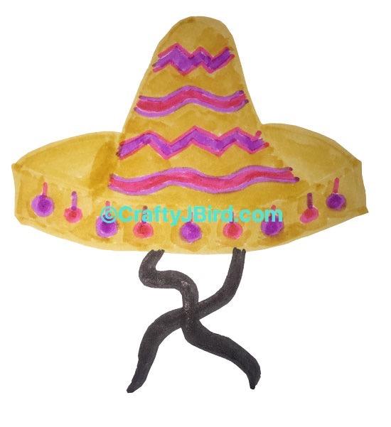 Sombrero Hat -- Visit CraftyJBird.com for more info...