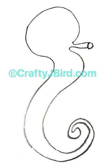 Seahorse Drawing -- Visit CraftyJBird.com for more info...