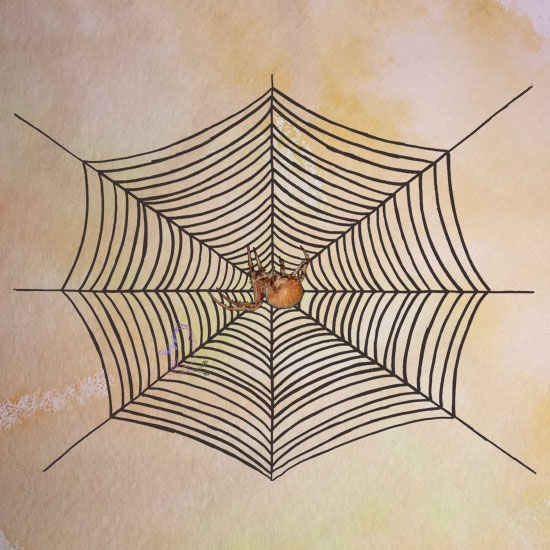 Don't Get Caught in Chester's Web - Happy Halloween -- Visit CraftyJBird.com for more info...