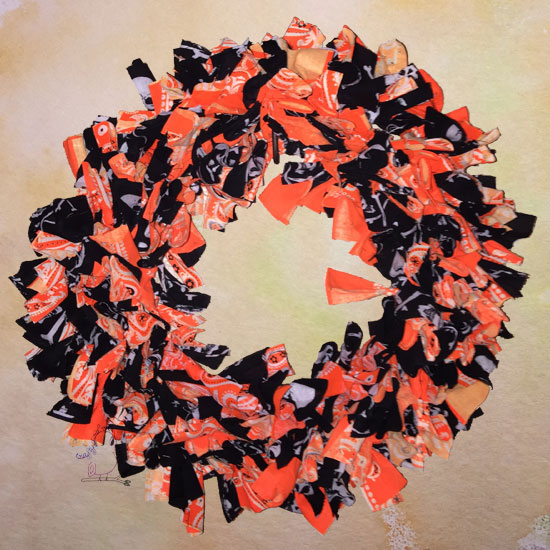 Easy Quick Halloween Wreath -- VIsit CraftyJBird.com for more info...