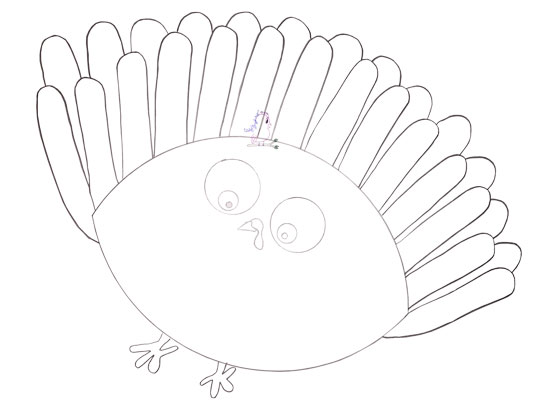 Gobble til You Wobble Turkey Drawing -- Visit CraftyJBird.com for more info...