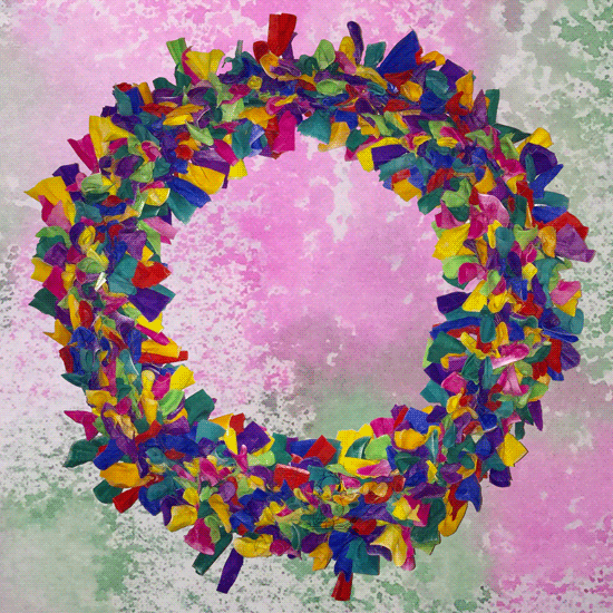 Big Colorful New Year Wreath -- Visit CraftyJBird.com for more info...