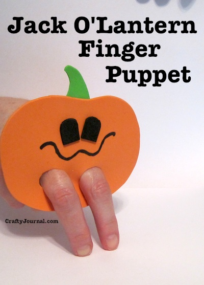 Jack O'Lantern Finger Puppet by Crafty Journal