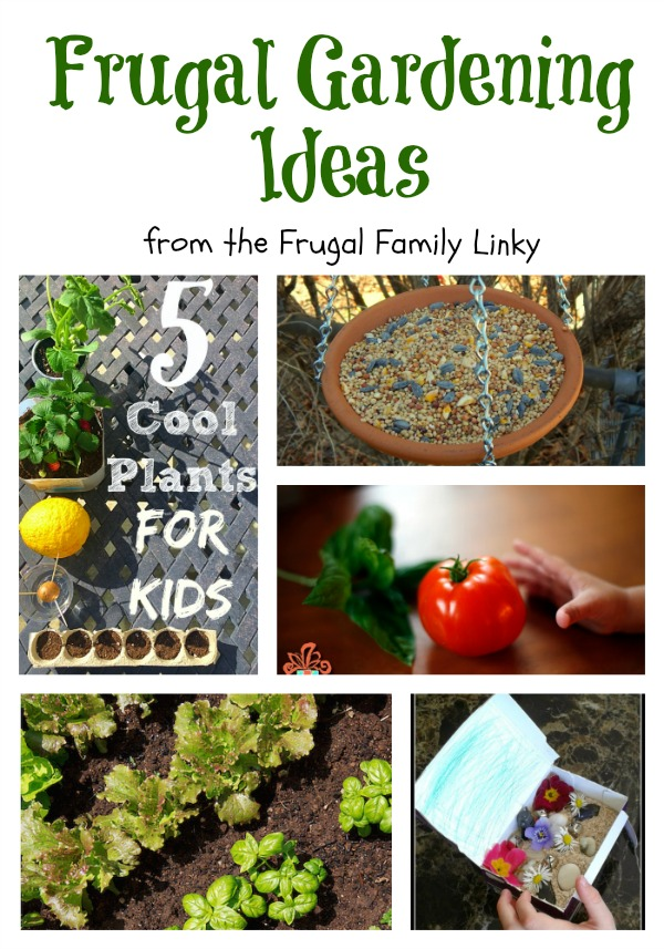 frugal gardening ideas - crafty