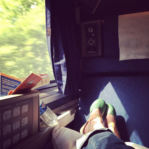 Chillin' in the sleeper car.