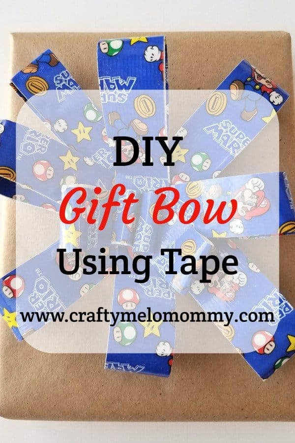 Make a gift bow using tape