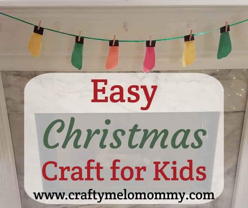Simple, cheap, and no mess Christmas craft for Toddlers