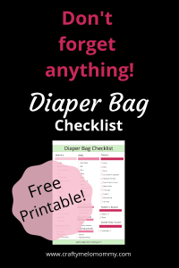 Best diaper bag checklist for …FREE! #freeprintablechecklist #diaperbagchecklist
