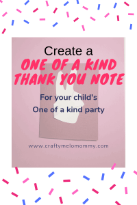With a few supplies and your child's handprint, you can make cute thank you cards for your child's birthday.