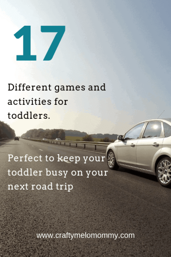 Games and activities to entertain your toddler while on long car rides or a road trip.