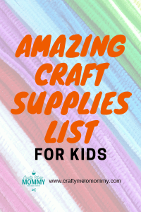 Perfect list to fill your child's craft box at home.