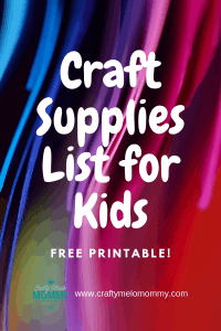 What are the basic craft supplies you need for your child? This is the perfect craft Supply product to list for you
