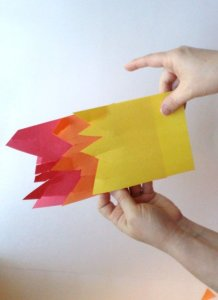 stack construction paper together