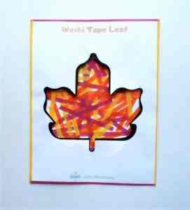 Autumn leaf art for kids
