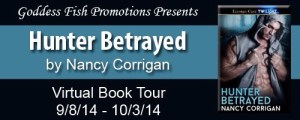 Hunter Betrayed by Nancy Corrigan #bookReview #authorInterview @goddessfish
