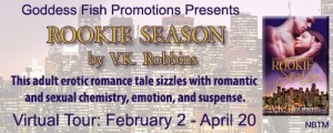 ROOKIE SEASON by V.K. Robbins #authorInterview @goddessfish