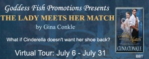 The Lady Meets Her Match by Gina Conkle @goddessfish #giveaway