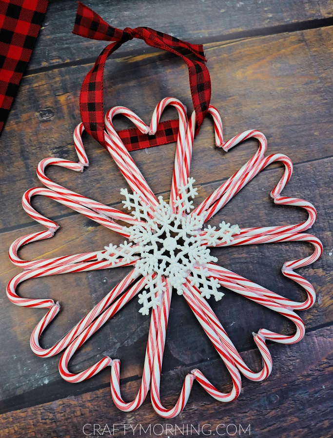 How To Make A Candy Cane Wreath : candy, wreath, Candy, Wreath, Craft, Christmas, Crafty, Morning