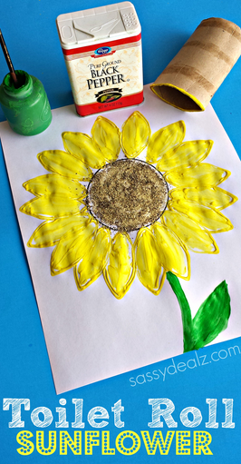 If you've ever visited arts & crafts events, there is no way you've failed to witness the beauty in the craft. Toilet Paper Roll Sunflower Stamp Craft Crafty Morning