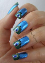 peacock nail art craftynail