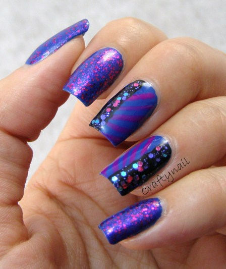 purple and blue nails craftynail