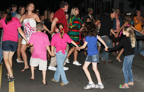 People dancing at Rhododendron Festival Street Dance
