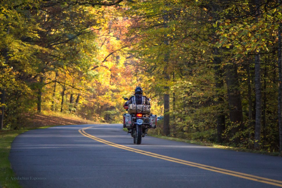 Motorcyclists on the Blue Ridge Parkway