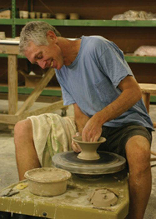 Potter at potters wheel