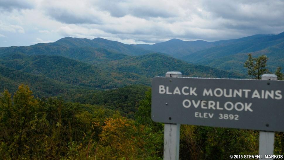Black Mountains Overlook on the Blue Ridge Parkway
