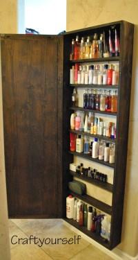DIY Bathroom Cabinet with Mirror - Craft