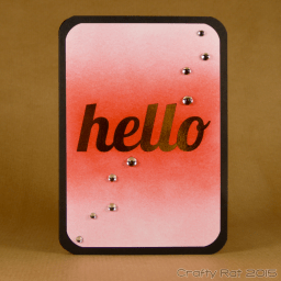 Gold foiled hello card