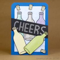 CR00275 Cheers bottles