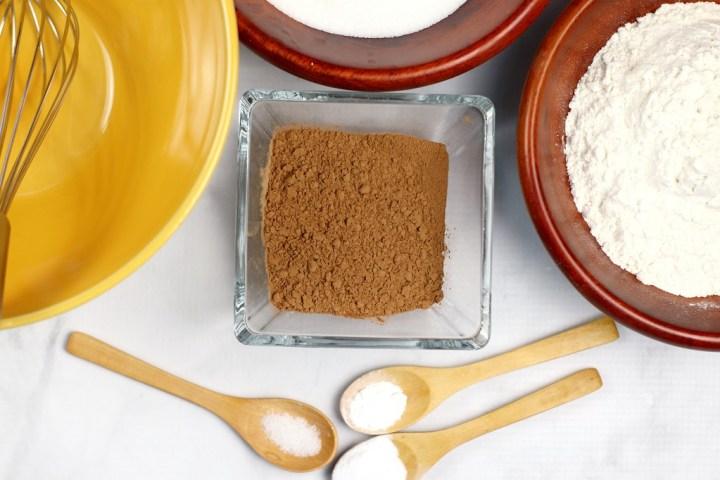 Cruella De Vil Red Velvet Cupcakes dry ingredients