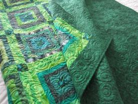 Green Donation Quilt front and back