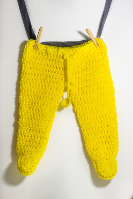 Crochet footed baby pants 1