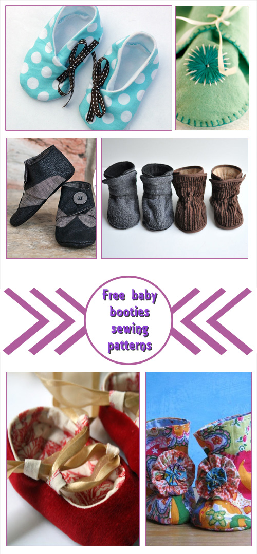 Free Baby Booties Sewing Patterns 8
