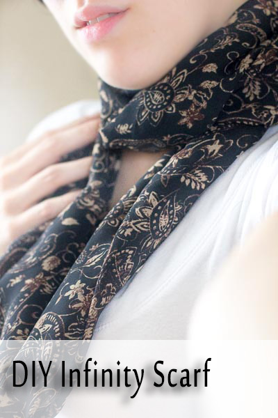 DIY Infinity Scarf. Easy step by step photo tutorial on how to create an infinity scarf. Make it for yourself or as a gift.