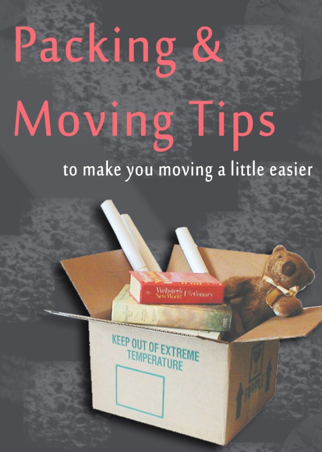 Packing and Moving Tips that can make your moving a little easier. Just sharing some packing and moving tips that I learned over so many movings.