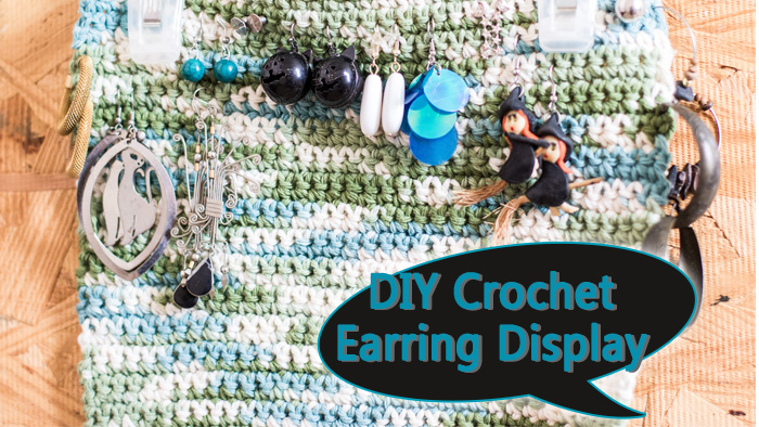 DIY Crochet Earring Display 1