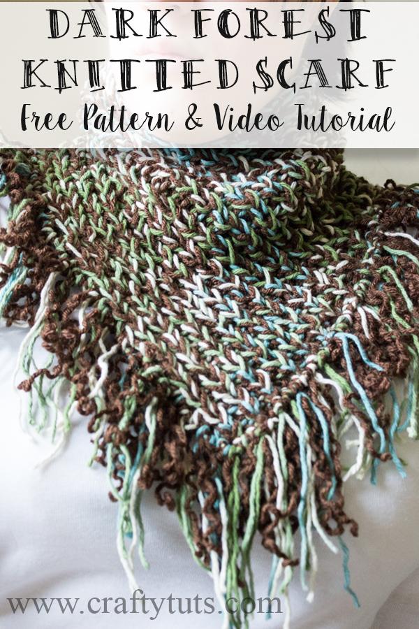Dark Forest Knitted Scarf - Free Pattern & Video Tutorial 1