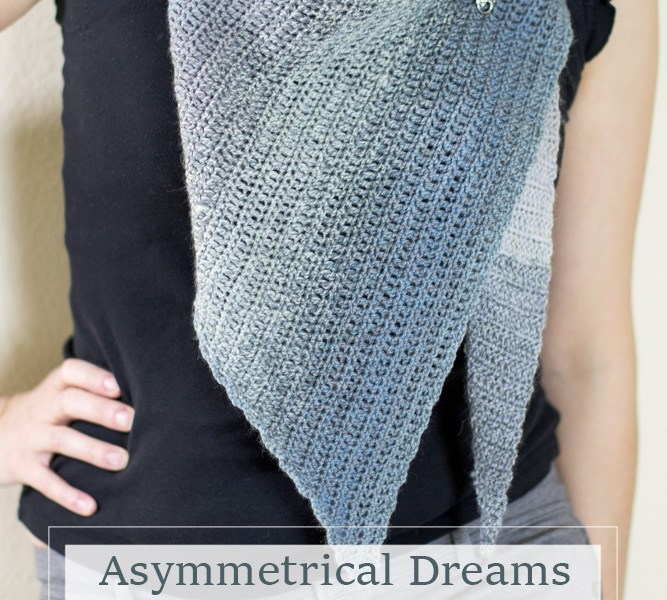 Asymmetrical Dreams Shawlette Crochet Pattern