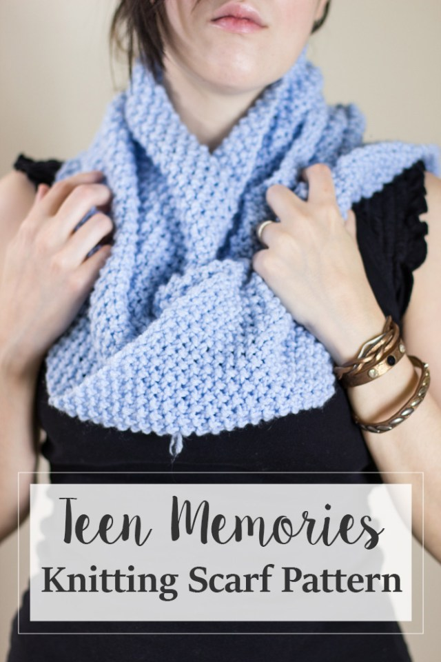Teen Memories Free Knitting Scarf Pattern Crafty Tutorials