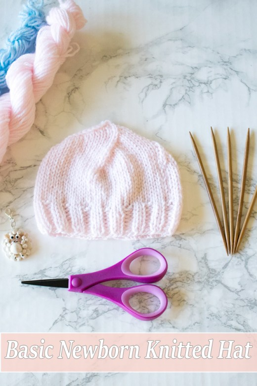 FREE Basic Newborn Knitted Hat Pattern (0 to 3 months old) 6