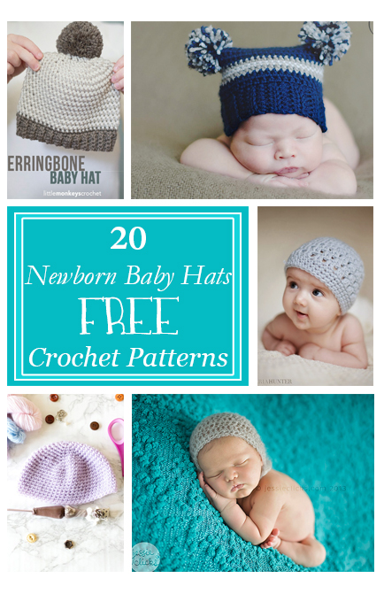 778232b96a58 Crochet Baby Hats for Newborns Free Patterns - Crafty Tutorials