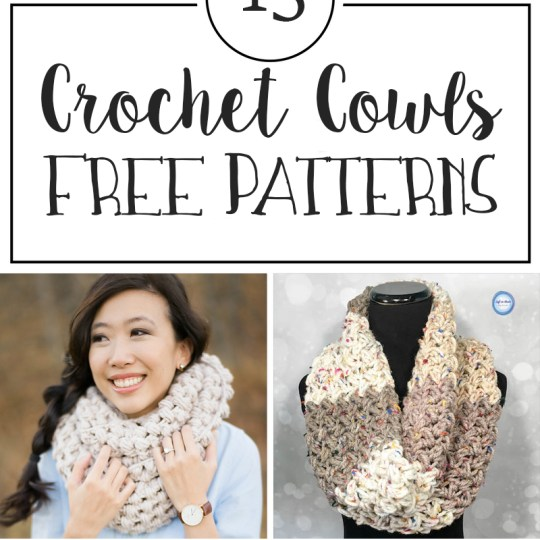 15 Free Patterns for Crochet Cowls