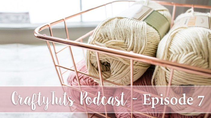 title for crochet podcast and knitting podcast, yarn