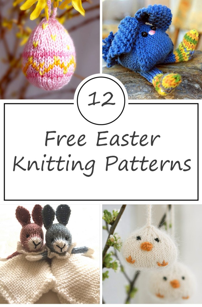 Free Easter Knitting Patterns Roundup Find Bunnies And More