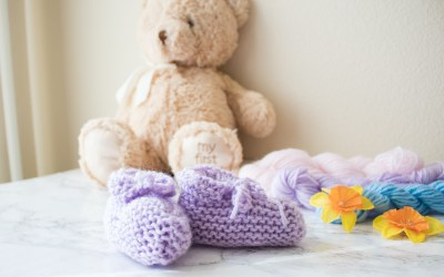 Easy knit baby booties free pattern