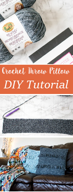 Crochet Throw Pillow Tutorial. Bring your home decor to the next level with super trendy fringe pillows. Super easy and affordable to make.