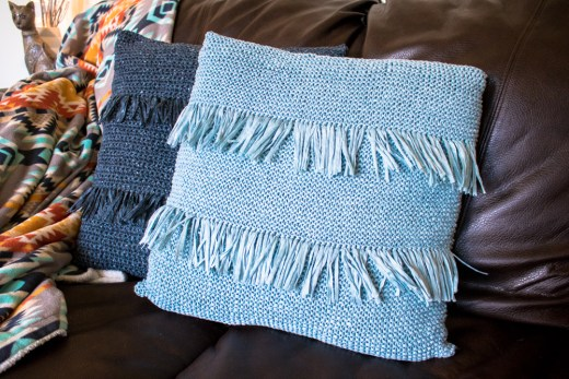 Knit throw pillow free pattern